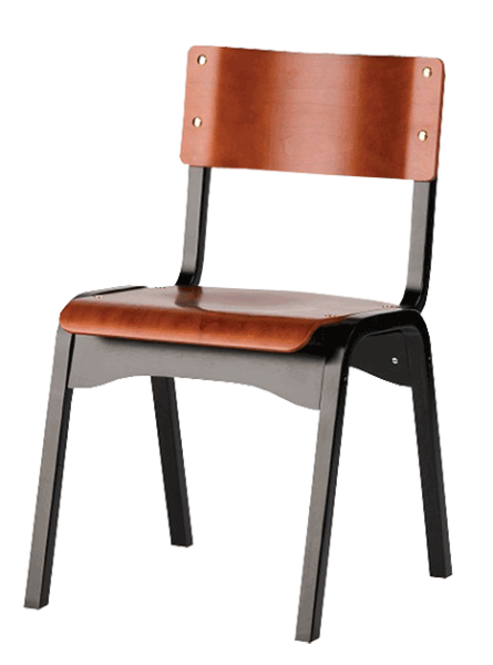 FD446 – Carlo Wood Stacking Side Chair