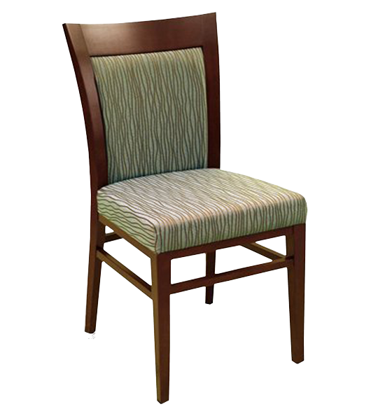 FD235 – Dining Upholstered Flared Back Wood Arm Chair
