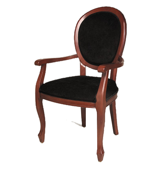 FD234 – Dining Upholstered Vanity Back Wood Arm Chair