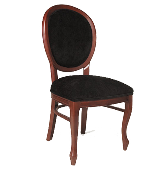 FD233 – Dining Upholstered Vanity Back Wood Side Chair