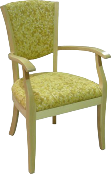 FD244 – Dining Upholstered Wood Arm Chair