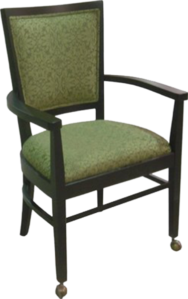 FD395 – Dining Upholstered Wood Arm Chair