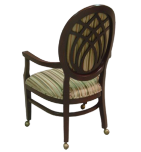 Wood Arm Chair Elliptical Back FD242