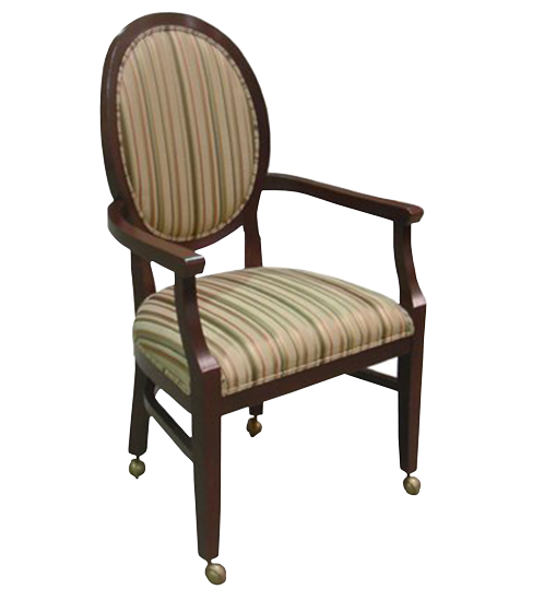 FD242 – Wood Arm Chair Elliptical Back