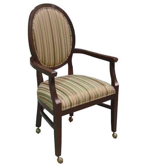 Wood Arm Chair Elliptical FD242