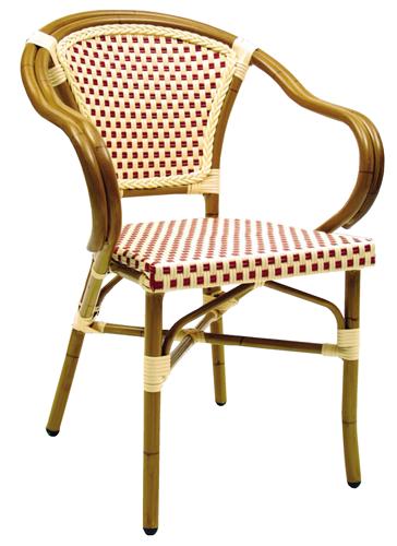 Aluminum Wicker Arm Chair SF260