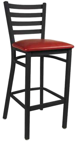 EB614 – Import Short Ladderback Metal Bar Stool