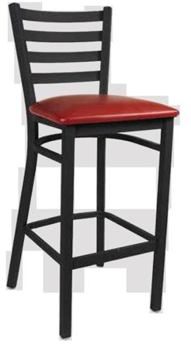 EB614 – Import Short Ladderback Metal Bar Stool