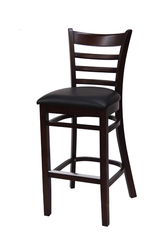 EB641 – Import Flared Ladderback Wood Bar Stool