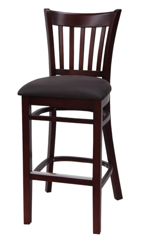 EB642 – Import Flared Slat Back Wood Bar Stool
