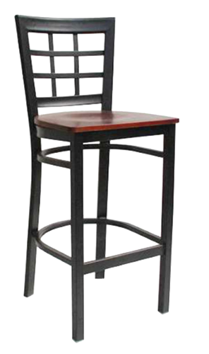 EB675 - Import Metal Windowpane Bar Stool