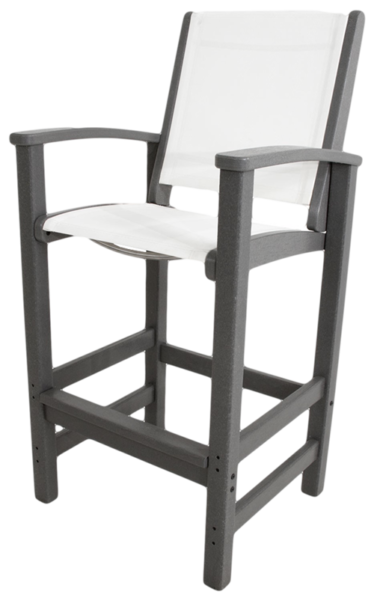 9012 – Resin Arm Bar Stool