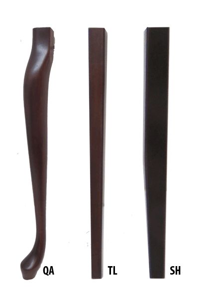 Table legs – Queen Anne,Tapered Leg, Shaker